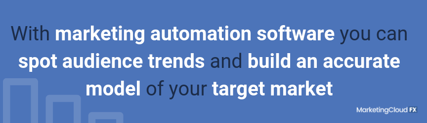 With marketing automation software you can spot audience trends and build an accurate model of your target market