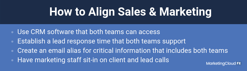A checklist for how to align sales and marketing